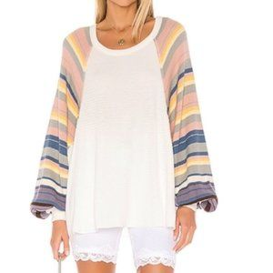 Free People Rainbow Dreams Knit Top